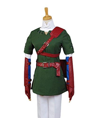 Zelda Midna Costume (UU-Style Teens Hoodie Top The Legend of Zelda Link Coat Jacket Pants Hoodie Outfit Suit Uniform Cosplay Costume)