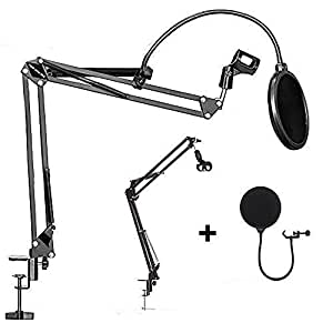 OZSTOCK Microphone Suspension Boom Arm Desktop Stand Mic Holder Mount