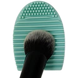 Cleaning Makeup Washing Brush Silica Glove Scrubber Board Cosmetic Clean Tools (Green)