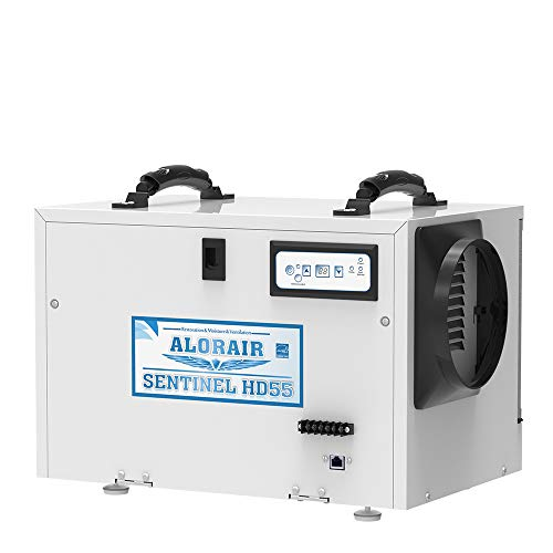 AlorAir Basement/Crawlspace Dehumidifiers Removal 120PPD (Saturation) 55 PPD (AHAM), 5 Years Warranty, HGV Defrosting, cETL and Energy Star Listed, Epoxy coating, up to 1,300 Sq. Ft, Remote Monitoring