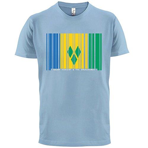 Saint Vincent and the Grenadines / St. Vincent und die Grenadinen Barcode Flagge - Herren T-Shirt - Himmelblau - XL