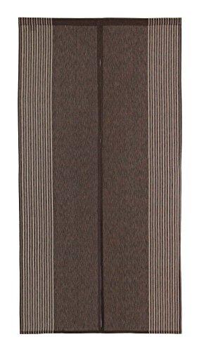 Narumi Vertical Stripe Cotton Cloth Japanese Noren Curtain Tapestry (Dark Brown) ()