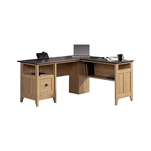 Sauder August Hill L-Shaped Desk, Dover Oak finish
