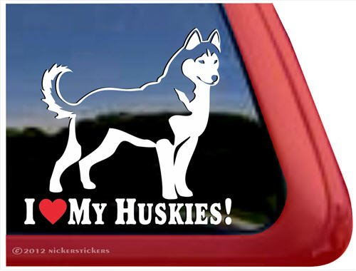 Huskies Siberian Husky Window Sticker