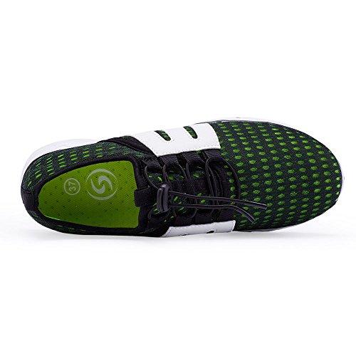 Sitaile Donna Uomo Outdoor Quick Dry Sneakers Da Trekking Traspirante Leggero Water Shoes Green