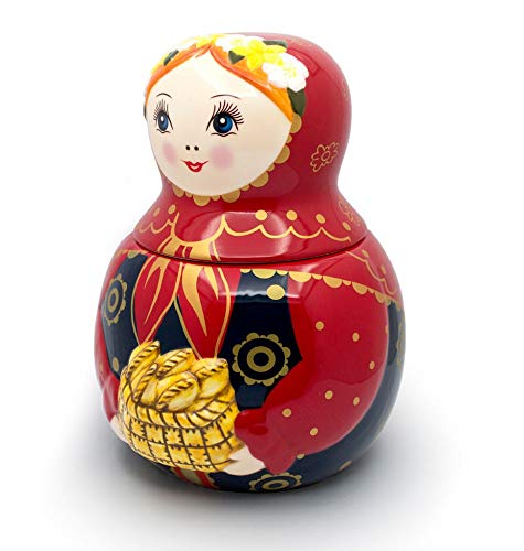 UNAMOI MCJP16 MCJP Matryoshka Russian Doll Ceramic Cookie Jar 10