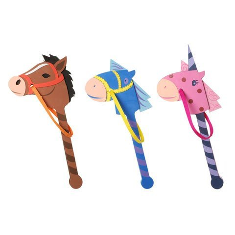 Bulk Buy: Darice Foamies Horse on a Stick Assorted Colors 22 to 24 inches (3-Pack) 106-2998 ()