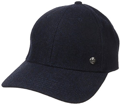 Perry Ellis Men's Donegal Herringbone Baseball Cap, Dark Sapphire, - Wigens Wool