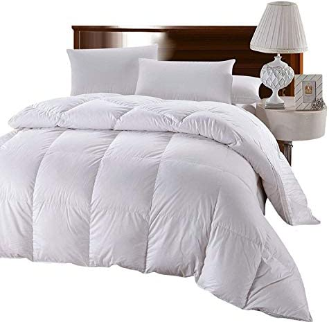 100/% Cotton Shell 300 TC Checkered White Full//Queen Size Duvet Insert 85 OZ Fill Overfilled Dobby Down Alternative Comforter Royal Hotel Soft and Fluffy