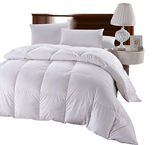 Royal Hotel King Size 300-Thread-Count Goose Down Alternative Comforter 100 percent Cotton 300 TC Shell- 750FP - 86 oz - Solid White Down-Alt Comforter