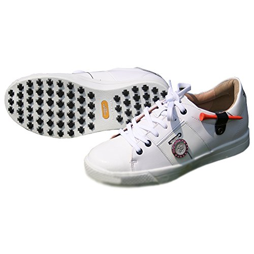 KARAKARA Spike-less Golf Shoes, TC-406, White, 225 mm, for Women