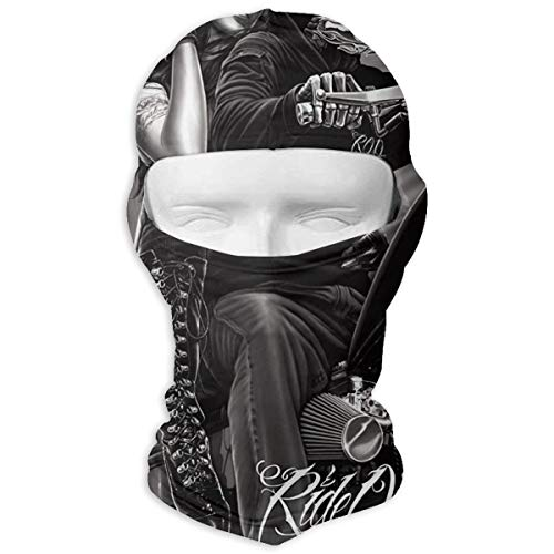 Leopoldson Motorcycle Biker Babe Queen Skull Rider Balaclava UV Protection Windproof Ski Face Masks for Cycling Outdoor Sports Full Face Mask -