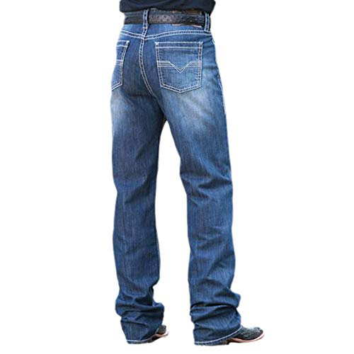 Rock & Roll Denim Reflex Double Barrel Straight Small V Jean (36X34) - Panhandle Slim Rock
