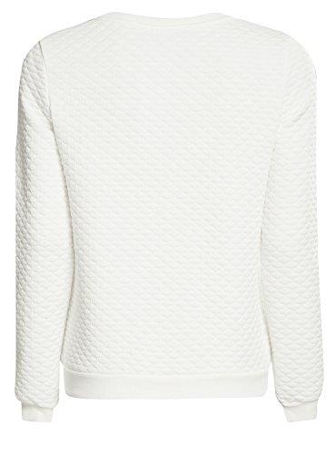 oodji Collection Mujer Suéter de Tejido Texturizado Blanco (1200N)