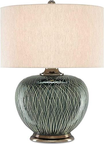 Currey & Company Table Lamp GINEVERA 1-Light Antique Nickel Natural ()
