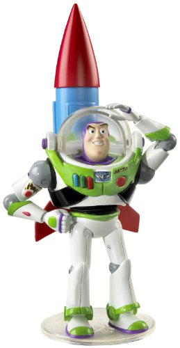 Toy Story 3 Deluxe Buzz with Rocket Collectible Figure (Rocket Toy Story Ship)