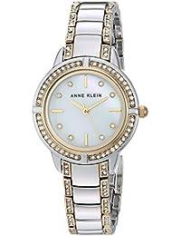 Womens AK/2977MPTT Swarovski Crystal Accented Two-Tone Bracelet Watch