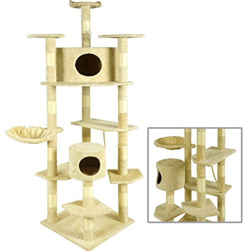 BestPet 2014 Cat Tree Condo Furniture Scratch Post Pet House 80-Inch 41p3Eacg45L