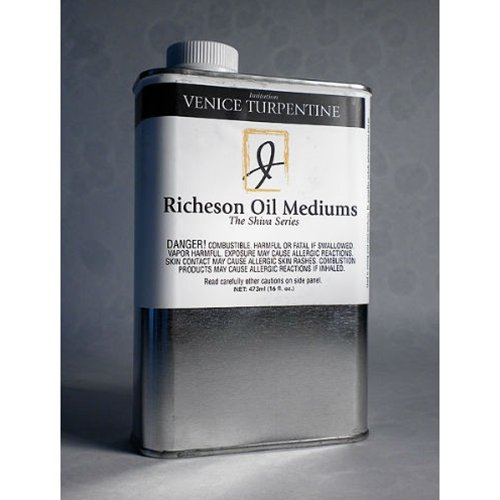 Richeson Oil Mediums Shiva Series Imitation Venice Turpentine - 3.75oz Glass Bottle