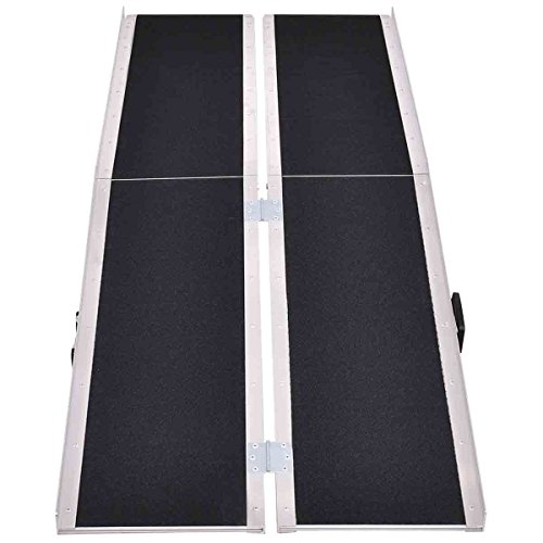Safeplus Portable Aluminum Non-skid 8' Multifold Wheelchair Ramp Scooter Mobility Ramp (MF8)