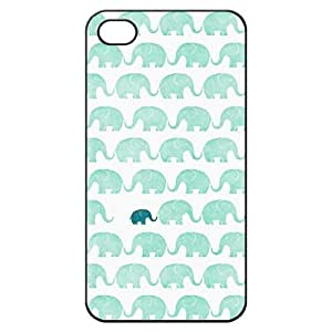 NADIA Elephant Hard Back Shell Case cover for Iphone 4 4g 4s Cases - Black/white/clear