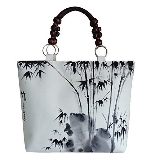 Borsa Di Moda Dipinta A Mano Casuale Caratteristiche Borsa Di Stile Etnico Stile Cinese Borsa Di Tracolla A Mano Stile Etnico Dipinto Bag Black