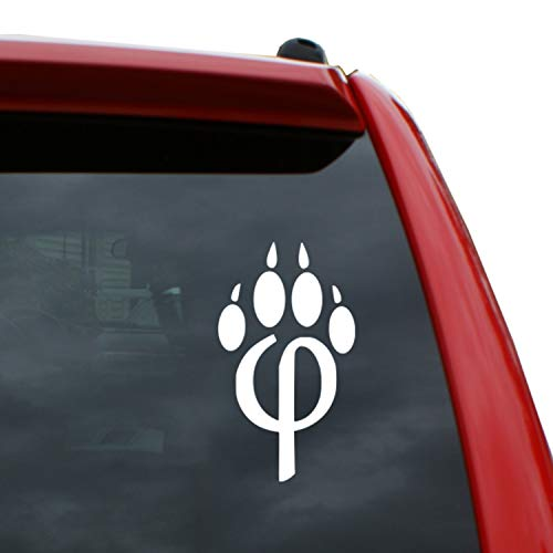 Black Heart Decals & More Phi-paw Furry Vinyl Decal Sticker | Color: White | 5
