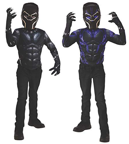 Marvel Black Panther 2-in-1 Reversible Muscle Chest Shirt Box Set, Small -