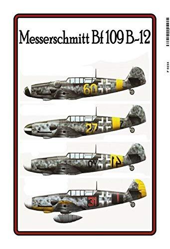 (DYTrade Messerschmitt Bf 109 B 12 Avion 2. Wk Pancarte en Tôle Signe Métal Panneau Étain)