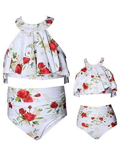 Mini Tankini 5t 6t 7t Girls Swimsuit 2 Piece Cute Swimsuits for Women and Girls Swimwear Family Matching Bathing Suits