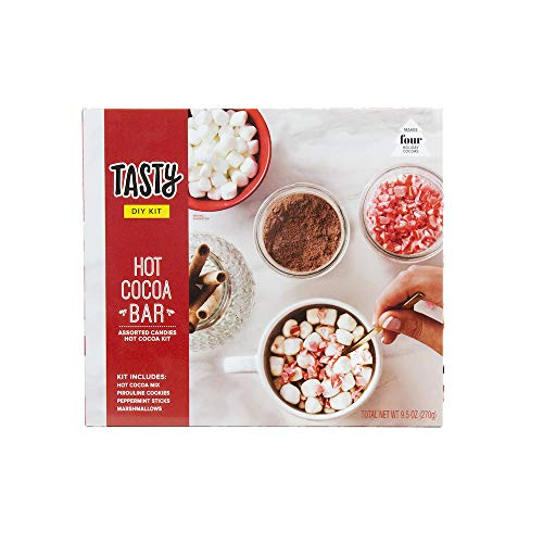 Tasty DIY Holiday Hot Cocoa Bar Kit | Includes Hot Cocoa Mix, Cookies, Peppermint Sticks & More