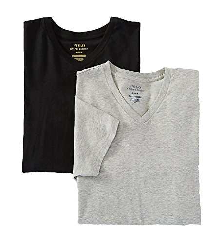 Polo Ralph Lauren Stretch Cotton T-Shirt 2-Pack, XL, Andover Grey/Black