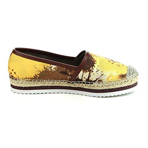 C Etichetta Atami-1 Slip Donna Comfort Su Scarpe Basse Espadrillas, Marrone, 7.5