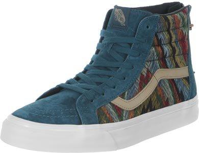Vans Sk8-hi Zip Ca (italianweave / Pigsuede) Atlantic Deep Mens Shoes Vn000xh9hui (9.5)