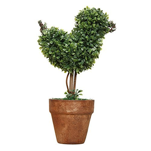 TOOGOO(R) miniascape Plastic Garden Grass Ball Topiary Tree Pot Dried Plant for Wedding Party Decor(Bird-Shaped) ()