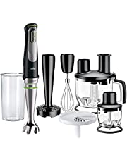 Braun MQ9087X MultiQuick 9 Hand Blender, 1000 Watt,Stainless Steel - Black