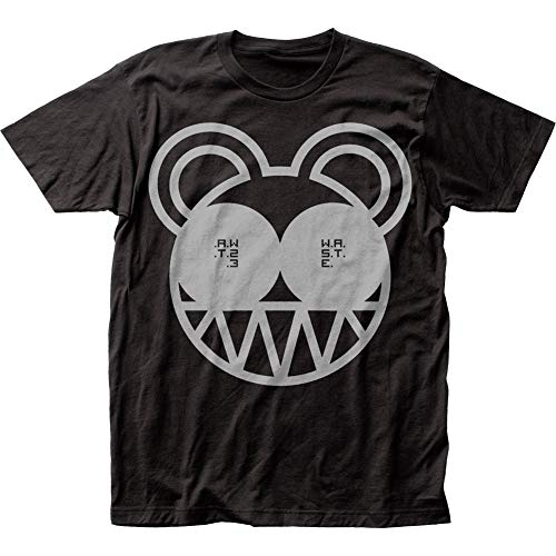 (Radiohead Bear Soft Fitted 30/1 Cotton Tee (Large) Black)