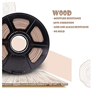 QDTD PLA Printing Filament 1kg, 3D Printing Filament Wood 1.75mm/3.00mm, high Precision, Suitable for 3D Printer and 3D Pen (Size : 1.75mm) 5