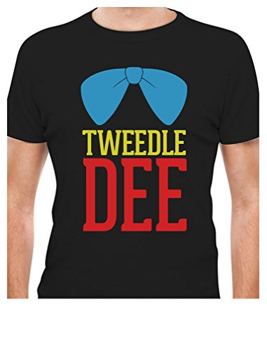 Tweedle Dee - Funny Matching Couples Gift Men's Black Large T-Shirt
