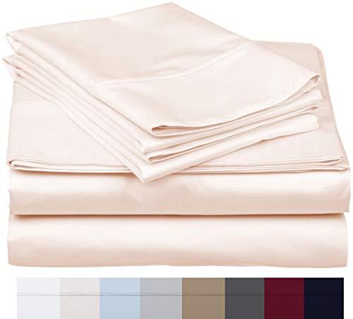 - 600 Thread Count 100% Long Staple Soft Egyptian Cotton SheetSet, 4 Piece Set, KING SHEETS,upto 17