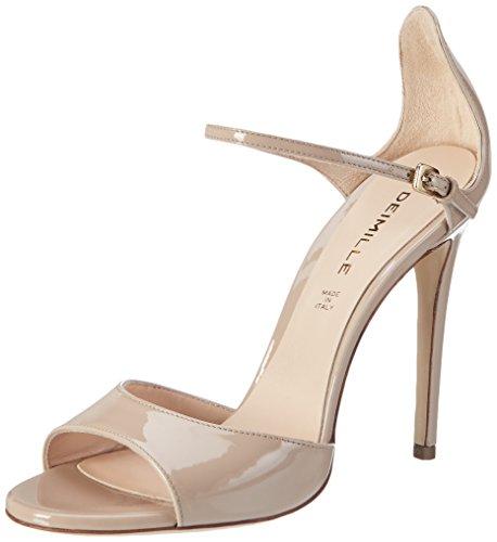 Dei Mille Women's Elena Wedge Heels Sandals Beige (Nude Lack) ncHJBmU