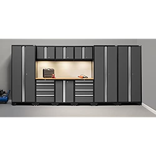 set bamboo bold amazon products series storage systems slp piece com garage newage gray cabinet