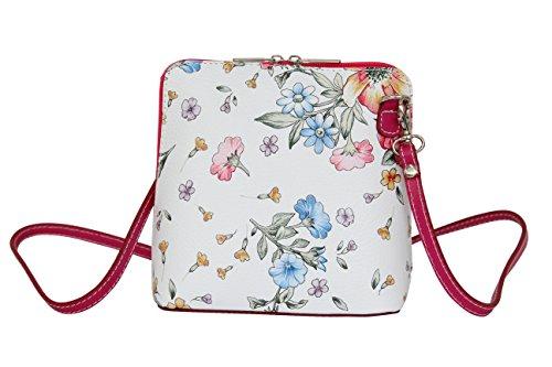 Moda Bolsos Pink cuero AMBRA de pequeño bandolera Bolso VL508 hombro Mujer de Blumen ZxwfwadXq