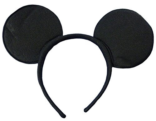 Black Felt Mouse Ears On Headband (Mickey Mouse Ears Costume)
