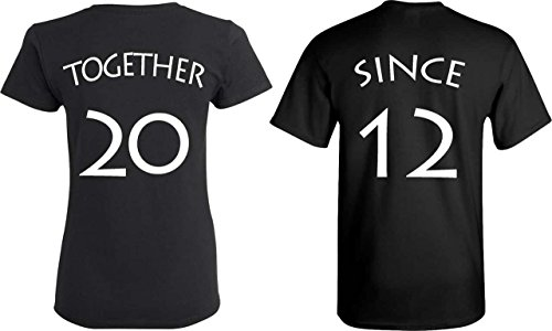 Cute Outfits For Couples ([YOUR DATE - 2012 or else] - Together Since Matching Couple Anniversary Shirts - [PERSONALIZED])