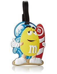 M & M Jumbo Luggage Tag, Yellow, One Size