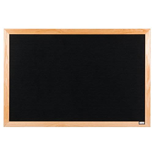 TableTop King AOFD2436L 24'' x 36'' Black Felt Open Face Horizontal Indoor Message Board with Solid Oak Wood Frame and 3/4'' Letters by TableTop King