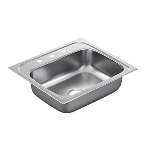 Moen G221963 2200 Series 22-Gauge Single Bowl Drop In Sink, Stainless Steel by Moen