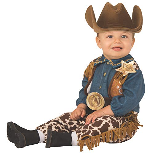 Western Baby Halloween Costumes (Rubie's Kid's Opus Collection Lil Cuties Little Cowboy Costume Baby Costume, As Shown,)