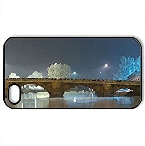 dumbarton bridge - Case Cover for iPhone 4 and 4s (Bridges Series, Watercolor style, Black)